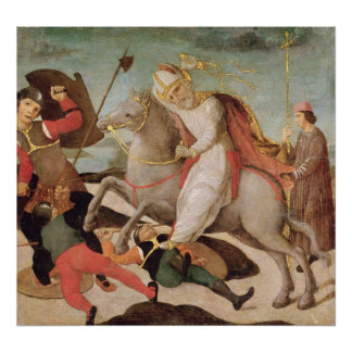 The Apparition of St. Ambrose Poster