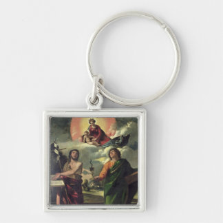 The Apparition of the Virgin to the Saints John th Key Chains