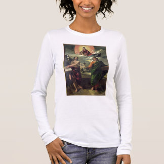 The Apparition of the Virgin to the Saints John th Long Sleeve T-Shirt