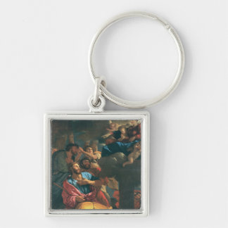 The Apparition of Virgin the St. James the Silver-Colored Square Key Ring
