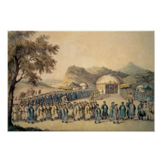 The Approach of the Emperor of China Poster