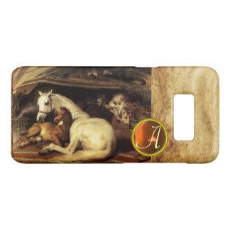 THE ARAB TENT WITH HORSE Orange Agate Gem Monogram Case-Mate Samsung Galaxy S8 Case