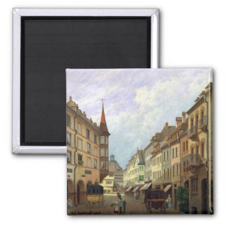 The Arcades, Grand Rue, Colmar, 1876 Magnet
