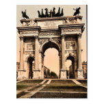 The Arch of Peace, Milan, Italy vintage Photochrom Post Card
