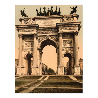 The Arch of Peace, Milan, Lombardy, Italy Postcard