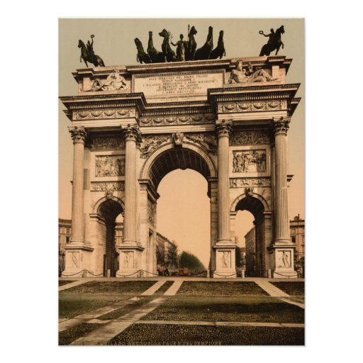 The Arch of Peace, Milan, Lombardy, Italy Print