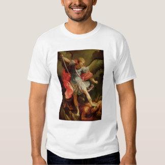 The Archangel Michael defeating Satan Tee Shirt