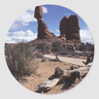 The Arches National Park, USA Classic Round Sticker