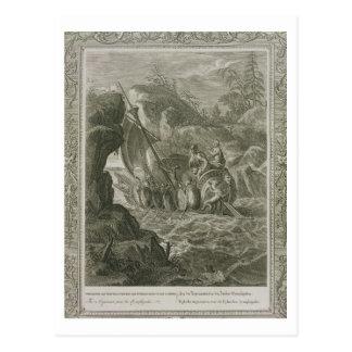 The Argonauts Pass the Symplegades (engraving) Postcard