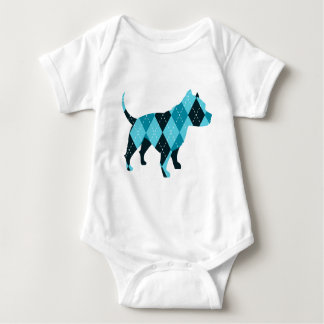 The Argyle Dog Baby Bodysuit