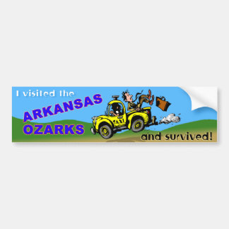 The Arkansas Visitor Survivor Bumper Sticker