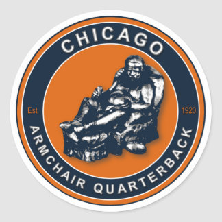 THE ARMCHAIR QB - Chicago Classic Round Sticker