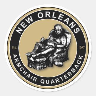 THE ARMCHAIR QB - New Orleans Round Sticker