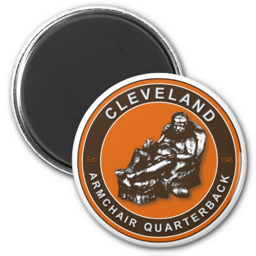 The Armchair Quarterback Cleveland Football Magnet Zazzle