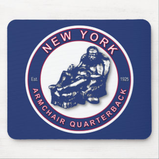 The Armchair Quarterback ~ New York Football Mouse Pad