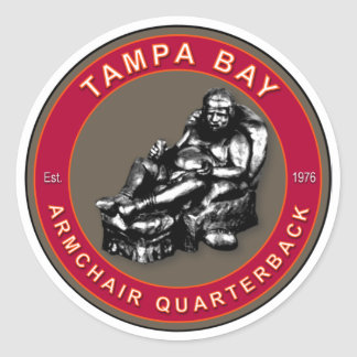 The Armchair Quarterback - Tampa Bay Football Classic Round Sticker