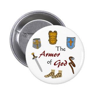 The Armor of God 6 Cm Round Badge