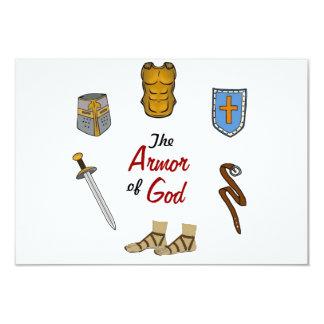 The Armor of God 9 Cm X 13 Cm Invitation Card
