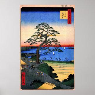 The Armour Hanging Pine at Hakkeizaka Bluff Poster