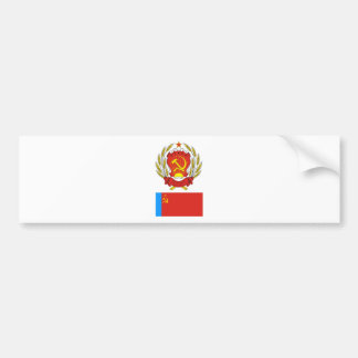 The arms and flag Russian Soviet Socialist Rep. Bumper Sticker