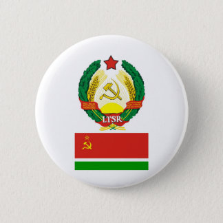 The arms and flag the Lithuanian Soviet Socialist 6 Cm Round Badge
