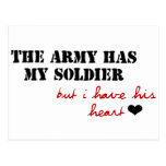 The Army has my Soldier, but I have his Heart Post Card