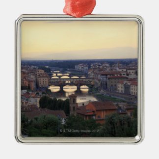 The Arno river and Ponte Vecchio in Florence, Metal Ornament