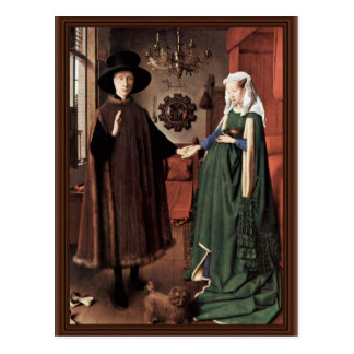The Arnolfini Portrait The Arnolfini Wedding  By J Postcard