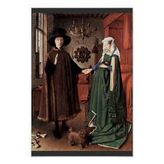 The Arnolfini Portrait The Arnolfini Wedding  By J Poster