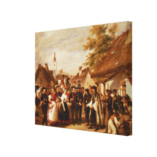 The Arrival of the Bride, 1856 Canvas Prints
