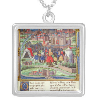The Arrival of the Count of Charolais Silver Plated Necklace