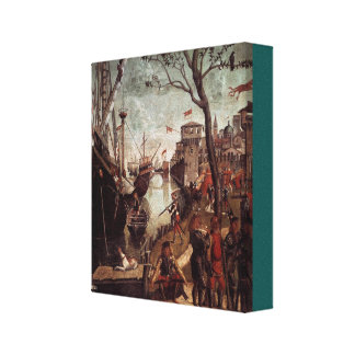The Arrival of the Pilgrims in Cologne Canvas Print