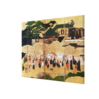 The Arrival of the Portuguese in Japan 2 Canvas Print