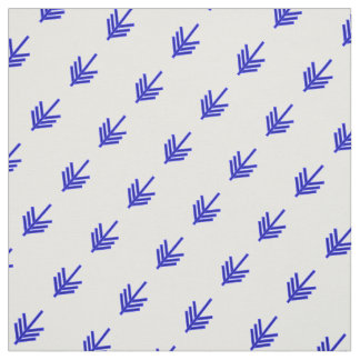 The arrow two shades of blue on white angled fabric