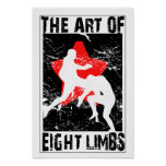 The Art of 8 Limbs - Muay Thai Flying Knee Poster