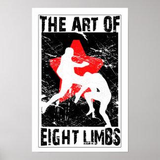The Art of 8 Limbs - Muay Thai Flying Knee Poster