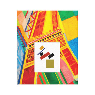 The Art of Balance (Suprematism & Eiffel Tower) Canvas Print