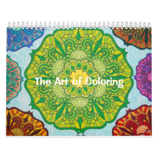 The Art of Coloring Calendar