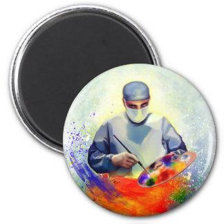 The Art of Medicine 6 Cm Round Magnet