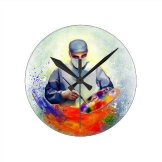 The Art of Medicine Round Clock
