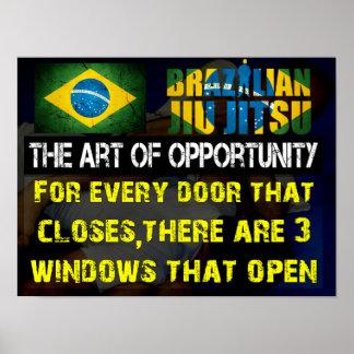"""""""The Art of Opportunity"""" Brazilian Jiu Jitsu Print"""
