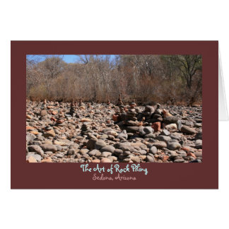 The Art of Rock Piling Greeting Card
