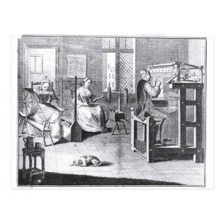 The Art of Stocking-Frame-Work-Knitting Postcard