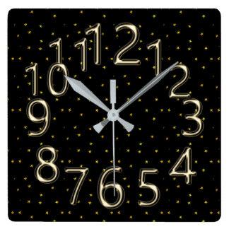 The-Art-of-Time-Black-Gold-Sparkle's Clocks