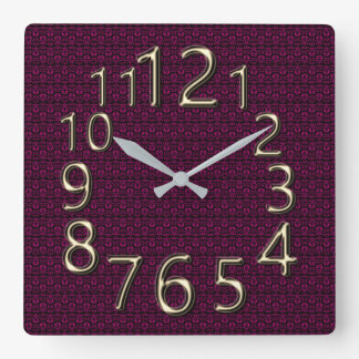 The-Art-of-Time-Stylish-Vintage-Clock Square Wall Clock