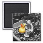 'The Art of Zen' Rubber Duck Magnet