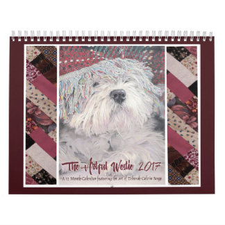 The Artful Westie 2017 Wall Calendar