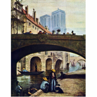 The Artist In Front Of Notre Dame By Daumier Honor Cut Out