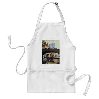 The Artist In Front Of Notre Dame By Daumier Honor Standard Apron
