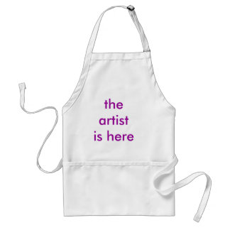the artist is here adult apron